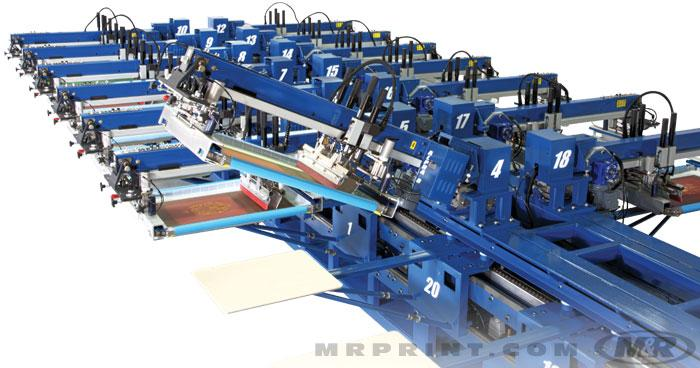Alpha 8 Oval Automatic Screen Printing Press