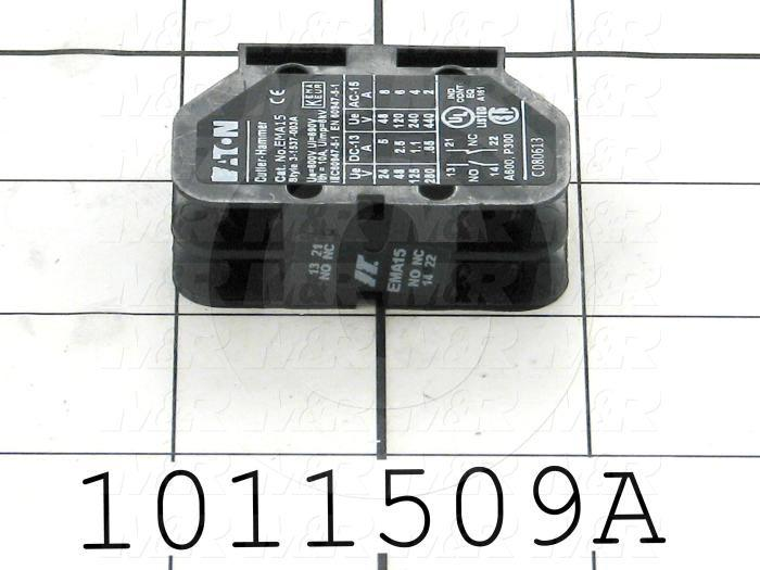 Aux Contact for Contactor, 2 Poles, 1 NO, 1 NC