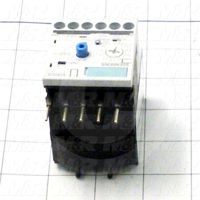 Aux Contact for Overload, 1 NO, 1 NC, 0.4A Minimum Current, 1.6A Maximum Current