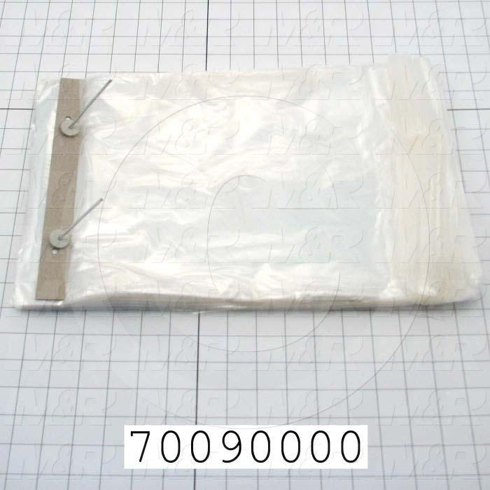 "Bags, 10"" x 14.25"" x 1.75"" Lip, 1 mil, (Case of 2000)"