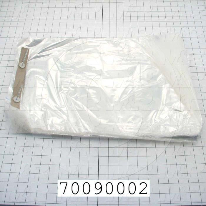 "Bags, 13"" x 20"" x 1.5"" Lip, 1 mil, (Case of 1000)"
