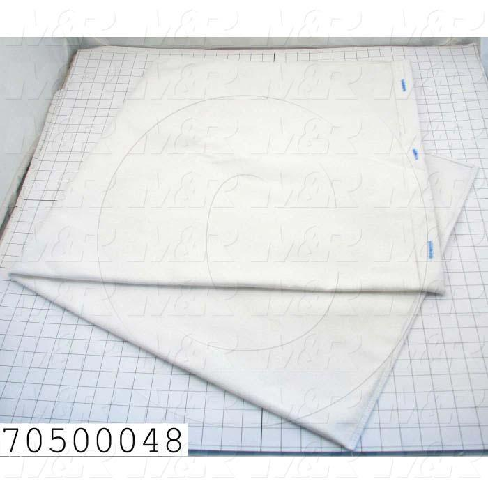 "Bags, 22.75""X50"", Filter Bag, Used On The Cleaning Unit Of The Flocker"