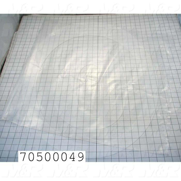 "Bags, 26""X48"", Collector Bag, 4 Mil, Clear Poly Bag, 100/Case"