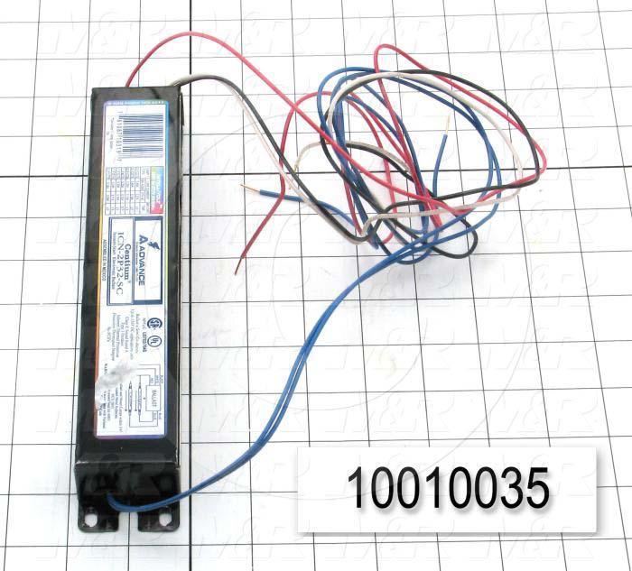 Ballast, Electronic Ballast, 2 Lamps, 59 Watts, 120/277V