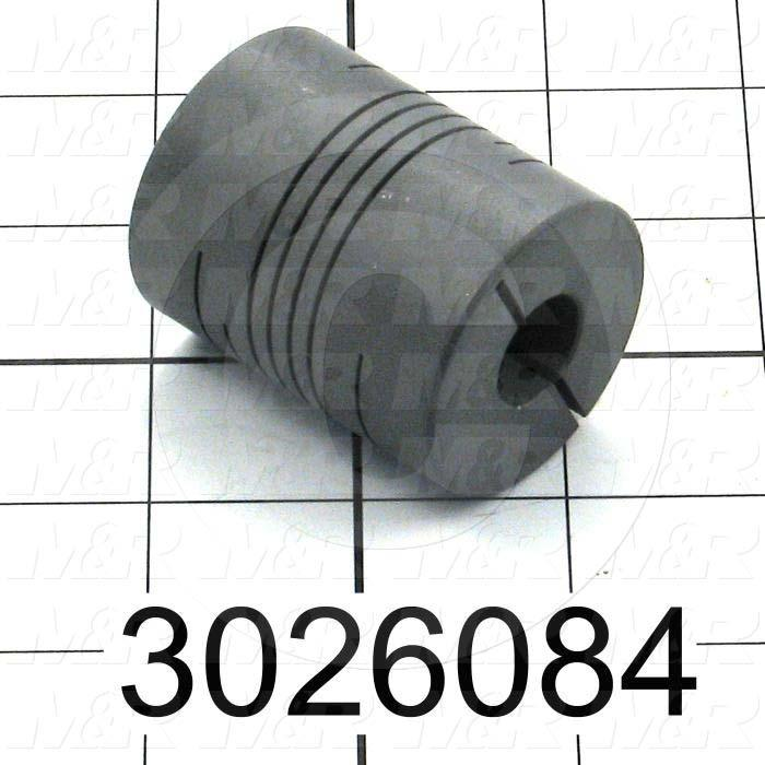 Beam Coupling, Hub # 1 Bore 15 MM, Hub # 1 Outer Diameter 40 MM, Hub # 2 Bore 15 MM, Hub # 2  Outer Diameter 40 MM, Overall Length 2.80""