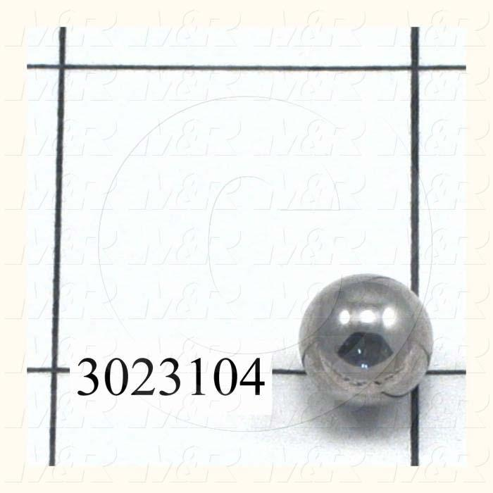 Bearing Ball, Outside Diameter 0.38 in., Material Alloy Steel