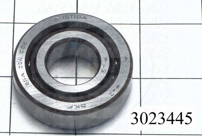 Bearings, Angular Contact 15 DEG, Accuracy Class ABEC-7, 20 mm Inside Diameter, 47 mm Outside Diameter, 14 mm Width, Open, Steel Material