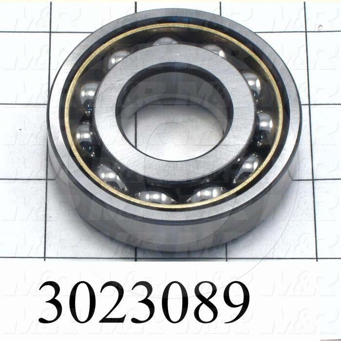 Bearings, Angular Contact, 30mm Inside Diameter, 72 mm Outside Diameter, 19 MM Width, Open, Steel Material