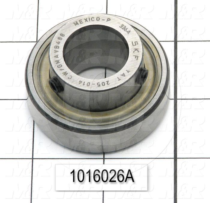 "Bearings, Flanged Double Shielded General Purpose, 0.88"" Inside Diameter, 2.05"" Outside Diameter, 1.70"" Width, Steel Material"