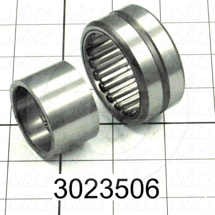 "Bearings, Needle Roller, 1.312"" Inside Diameter, 2.188"" Outside Diameter, 1.25 in. Width, Open, Outer Ring, Rollers, Inner Ring, Steel Material"