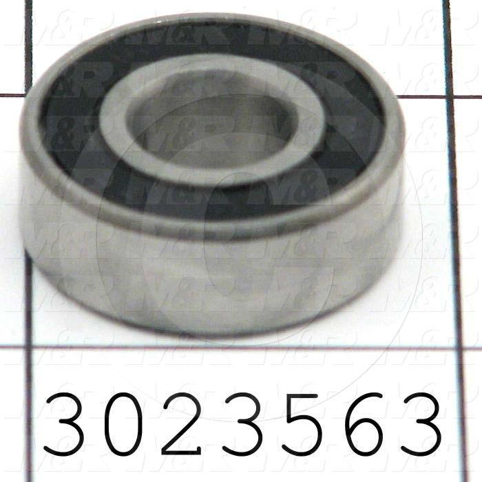 "Bearings, Radial Ball, 0.38 in. Inside Diameter, 0.906"" Outside Diameter, 0.312"" Width, Double Sealed, Steel Material"
