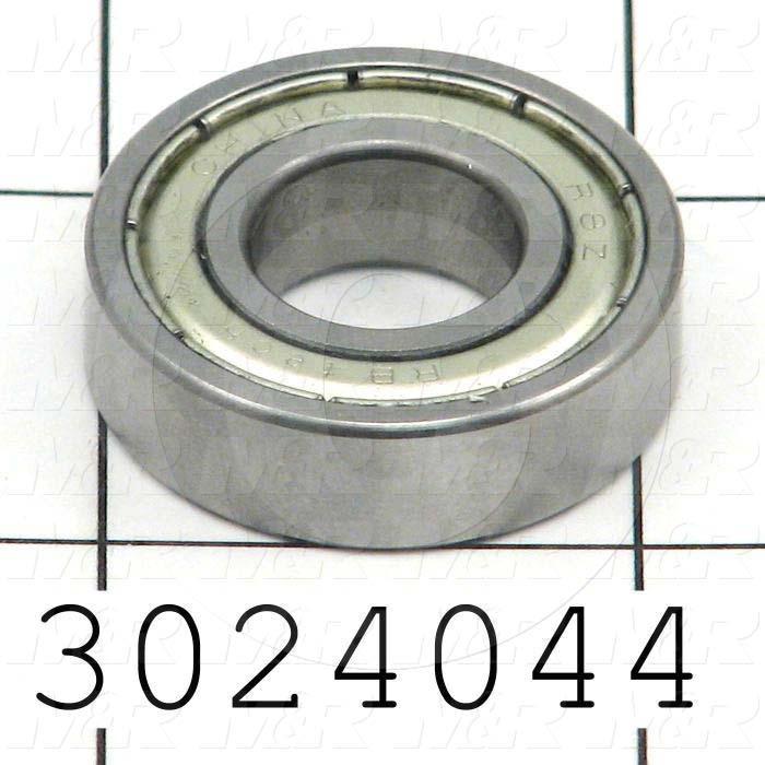 "Bearings, Radial Ball, 0.50 in. Inside Diameter, 1.125"" Outside Diameter, 0.312"" Width, Double Shielded, Steel Material"