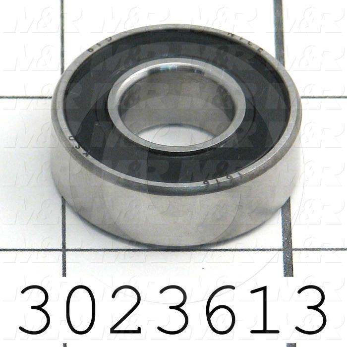 "Bearings, Radial Ball, 0.50 in. Inside Diameter, 1.125"" Outside Diameter, 0.375 in. Width, Double Sealed, Steel Material"