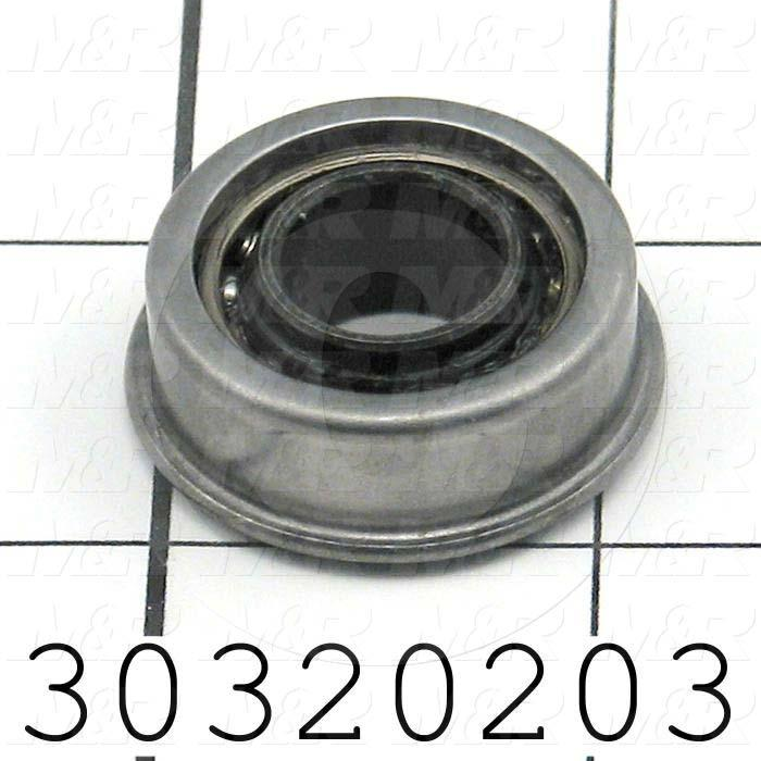 "Bearings, Radial Ball, 0.50 in. Inside Diameter, 1.125"" Outside Diameter, 0.44"" Width, Open, With Extended Inner Ring, Steel Material"