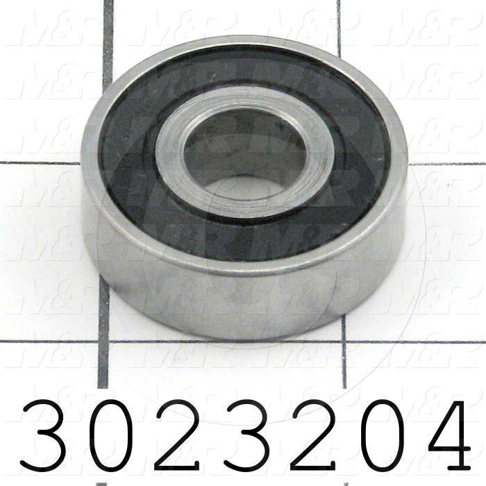 "Bearings, Radial Ball, 0.50 in. Inside Diameter, 1.375"" Outside Diameter, 0.44"" Width, Double Sealed, Steel Material"