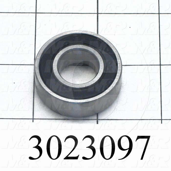 "Bearings, Radial Ball, 0.625 in. Inside Diameter, 1.375"" Outside Diameter, 0.44"" Width, Double Sealed, Steel Material"