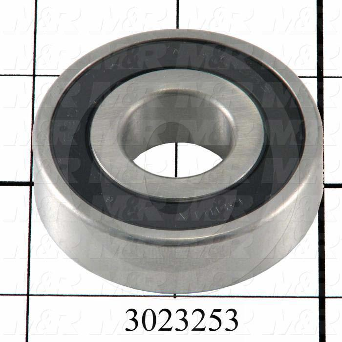"Bearings, Radial Ball, 0.75 in. Inside Diameter, 2.00 in. Outside Diameter, 0.44"" Width, Double Sealed, Steel Material"