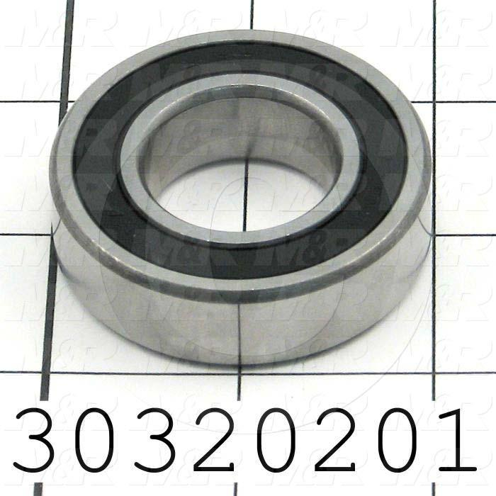 "Bearings, Radial Ball, 1.00"" Inside Diameter, 2.00 in. Outside Diameter, 0.563 in. Width, Double Sealed, Steel Material"