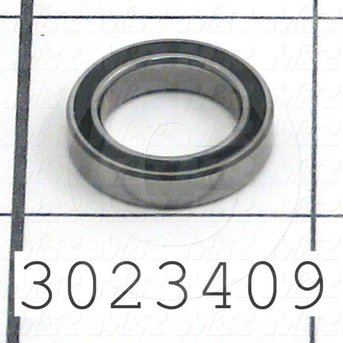 Bearings, Radial Ball, 12 mm Inside Diameter, 18 mm Outside Diameter, 4 mm Width, Double Sealed, Steel Material