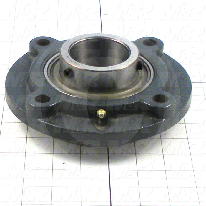 "Bearings, Radial Ball, 2.19"" Inside Diameter, 7.125"" Outside Diameter, 2.453"" Width, Double Sealed, Steel Material"