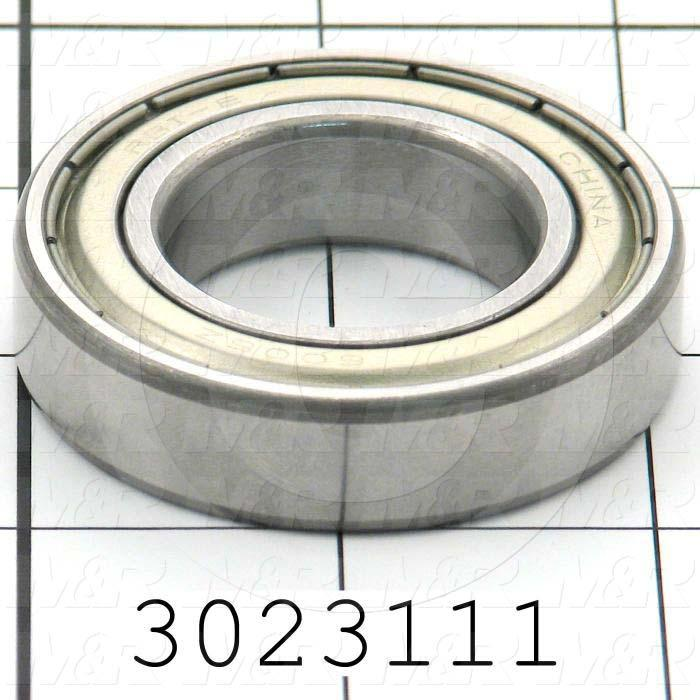 Bearings, Radial Ball, 30mm Inside Diameter, 55 mm Outside Diameter, 13 mm Width, Double Shielded, Steel Material