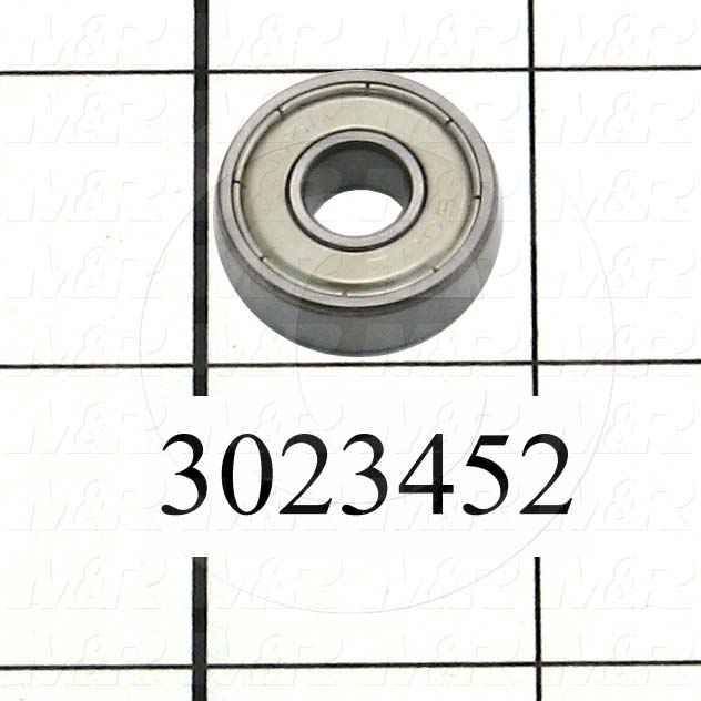 Bearings, Radial Ball, 8 mm Inside Diameter, 22 mm Outside Diameter, 7 mm Width, Double Shielded, Steel Material