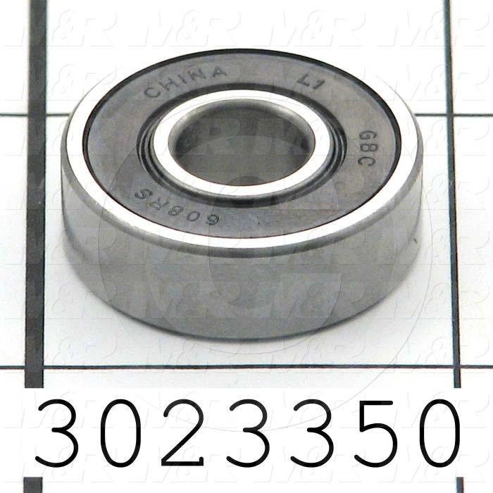 Bearings, Radial Ball, 8 mm Inside Diameter, 22 mm Outside Diameter, 7 mm Width, Sealed, Steel Material