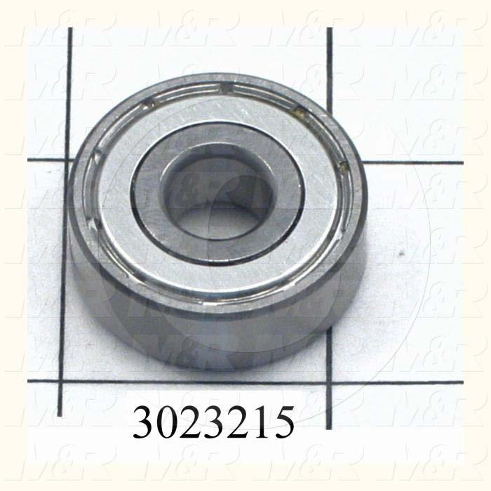 "Bearings, Radial Ball, Accuracy Class ABEC-1, 0.38 in. Inside Diameter, 1.125"" Outside Diameter, 0.375 in. Width, Double Shielded, Steel Material"