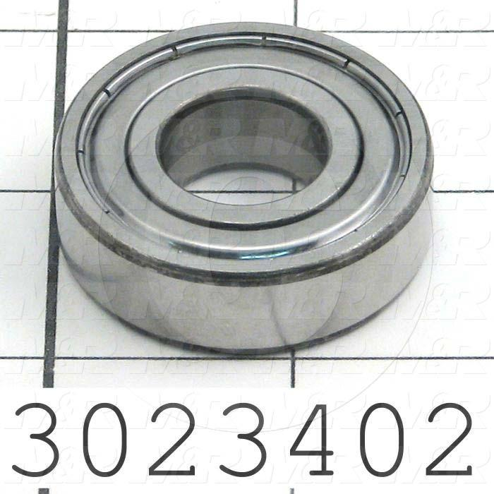 Bearings, Radial Ball, Accuracy Class C3, 17 mm Inside Diameter, 40 mm Outside Diameter, 12 mm Width, Double Shielded, Steel Material