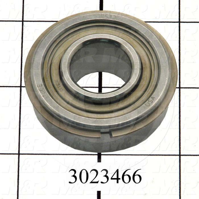 "Bearings, Radial Ball with Snap Ring, 0.75 in. Inside Diameter, 1.75"" Outside Diameter, 0.75 in. Width, Double Sealed, Steel Material"