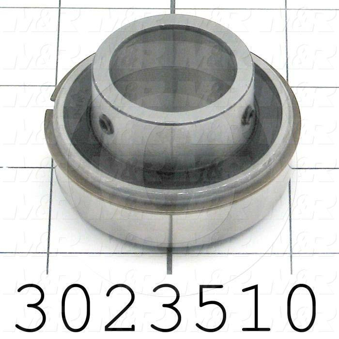 "Bearings, Radial Ball with Snap Ring, 1.00"" Inside Diameter, 2.00 in. Outside Diameter"