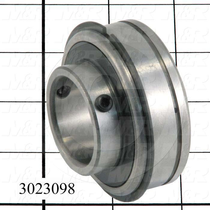 "Bearings, Radial Ball with Snap Ring, 1.25 in. Inside Diameter, 2.078"" Outside Diameter, 1.69"" Width, Double Sealed, Steel Material"