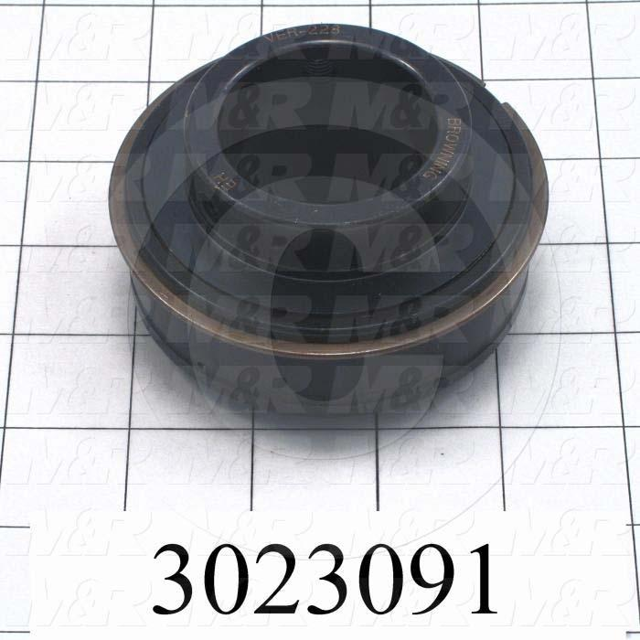 "Bearings, Radial Ball with Snap Ring, 1.75 in. Inside Diameter, 85 mm Outside Diameter, 1.94"" Width, Double Sealed, Single Row, Steel Material"