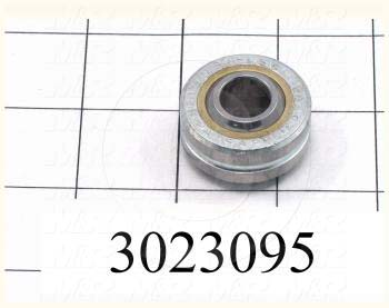 "Bearings - Spherical, Inside Diameter 0.50 in., Outside Diameter 1.313"", Ball With 0.687"", Three-Piece Precision, Body Steel, Ball Steel, Race Bronze"