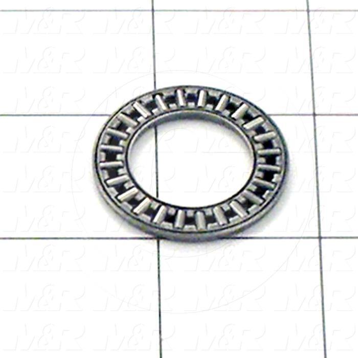 "Bearings, Thrust Needle Roller, 0.75 in. Inside Diameter, 1.25 in. Outside Diameter, 0.0781"" Width, Steel Material"