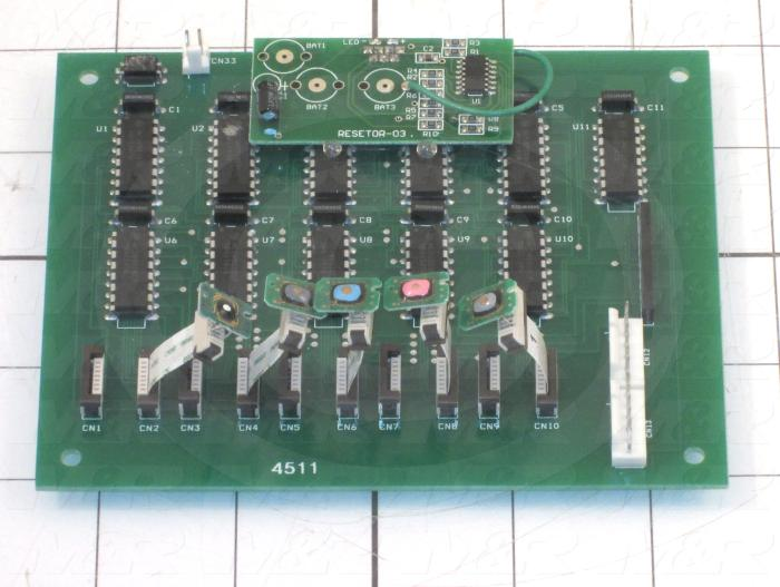 Board Assembly, Reset, Use For Printer 9880 Left