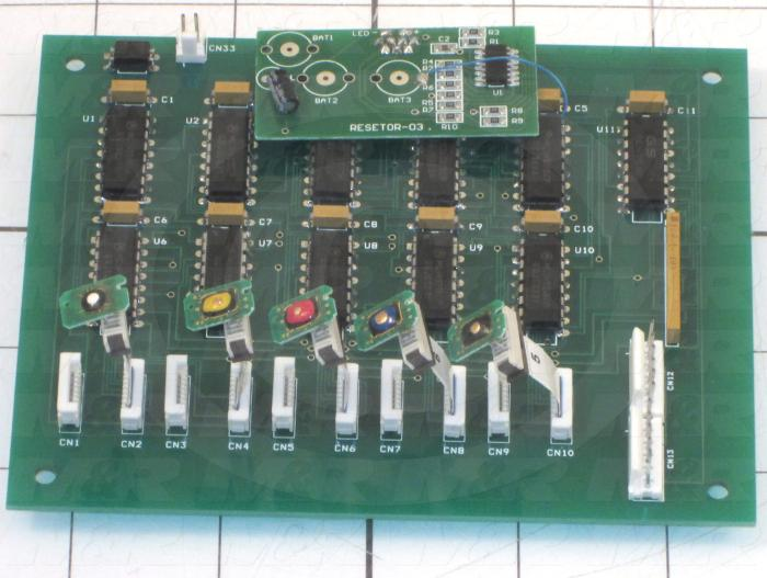 Board Assembly, Reset, Use For Printer 9880 Right