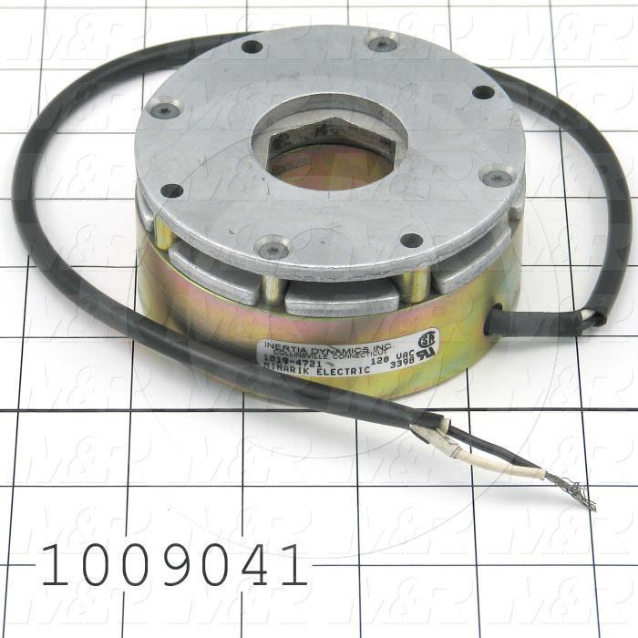 "Brake, Friction Motor Brake, 90 lb-in, 5/8"" Bore, 120VAC, 0.13A"