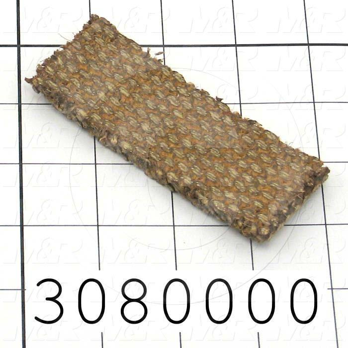 Brake Lining, Material Semi Metallic Woven, Thickness 0.25 in., Width 1.25 in., Coefficient of Friction 0.45, Max. Pressure 150 Psi