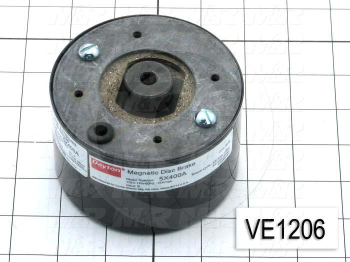 Brake, Magnetic Disc Brake, 115VAC, 16A, 60Hz, Single Phase