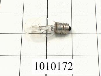 Bulb, Replacement bulb, Clear, 140V, 10W