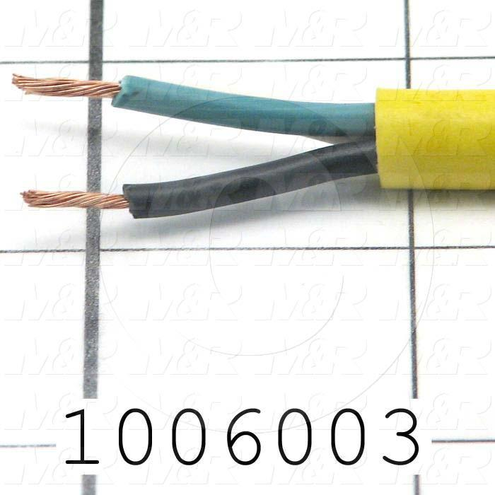 Bulk Cable, 2 Conductors, 18AWG, Yellow