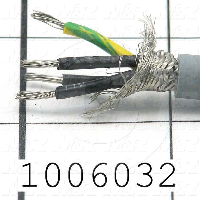 Bulk Cable, 4 Conductors, 18AWG, 90ºC, 300VAC, Shielded, PVC