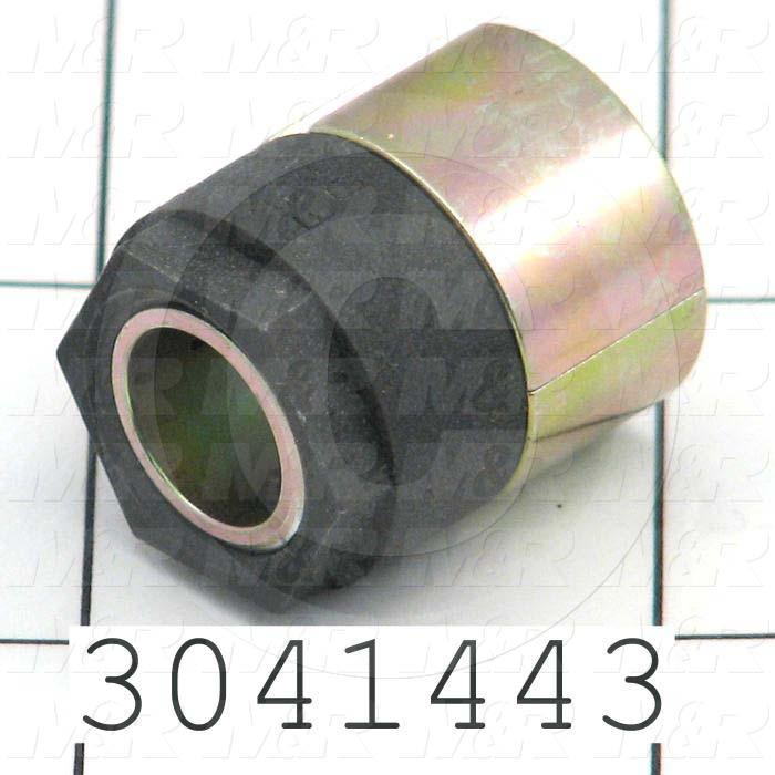 "Bushings, Keyless Type, 3/8 in. Bore Size, Trantorque Mini, 0.75 in. Outside Diameter, 0.88"" Height, Steel Material"