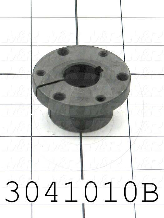 "Bushings, Q-D  JA Type, 0.75"" Bore Size, 3/16""x3/32"" Keyseat, 2.00 in. Outside Diameter, 1 in. Height, Steel Material"