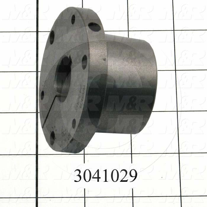 "Bushings, Q-D SD Type, 1.00"" Bore Size, 1/4"" X 1/8"" Keyseat, 3.130"" Outside Diameter, 1.81"" Height, Steel Material"