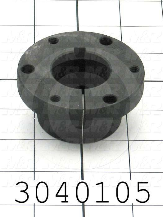 Bushings, Q-D SH Type, 1.25 Bore Size, 1/4 X 1/8 Keyseat, 2.687 Outside Diameter, 1.25 Height, Steel Material - Details