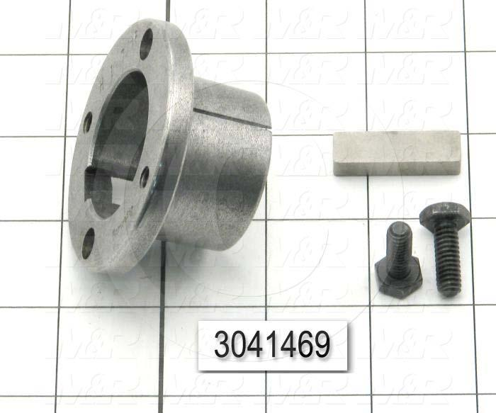 "Bushings, Q-D SH Type, 1.44"" Bore Size, 5/16""x3/32"" Keyseat, 2.50 in. Outside Diameter, 1.25"" Height, Steel Material"