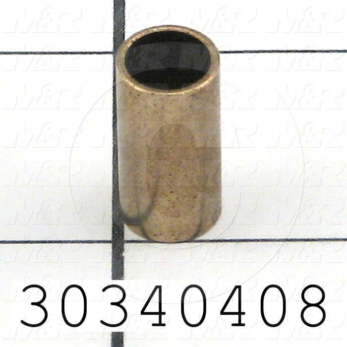 "Bushings, Sleeve Type Type, 5/16"" Bore Size, 0.38 in. Outside Diameter, 0.75"" Height, Bronze Material"