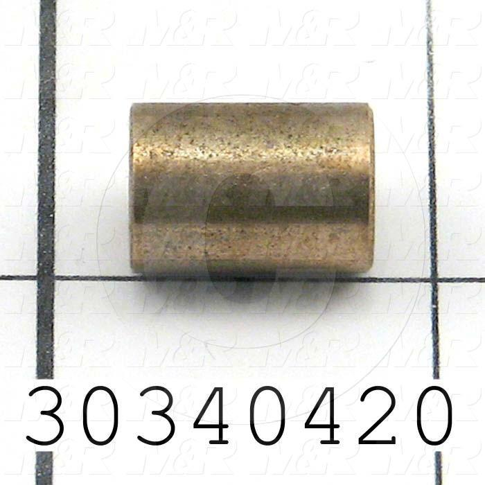 "Bushings, Sleeve Type Type, 5/16"" Bore Size, 0.438 in. Outside Diameter, Bronze Material"